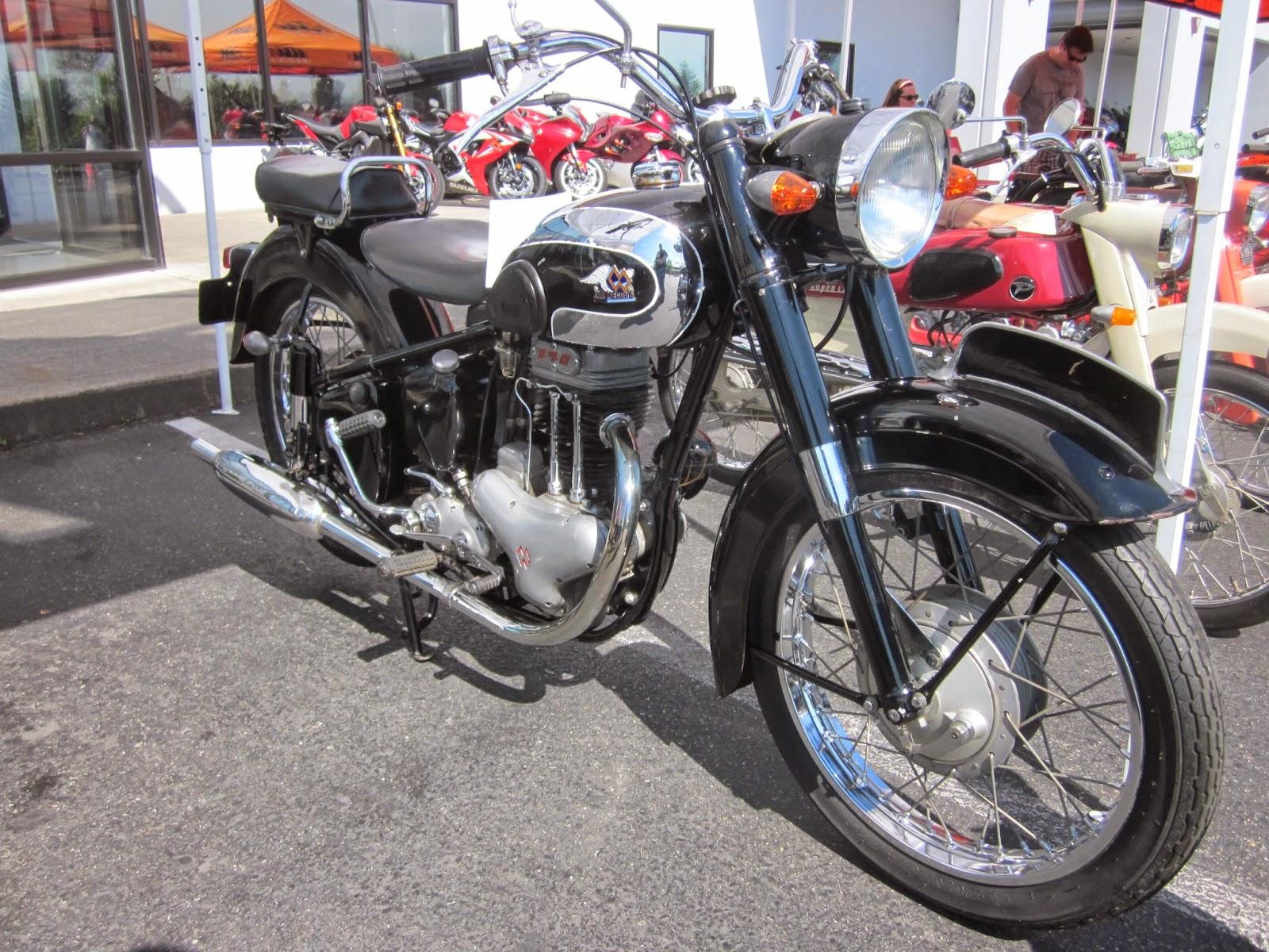 oldmotodude: 1957 meguro s3 on display at the 2014 vjmc-hinshaw's