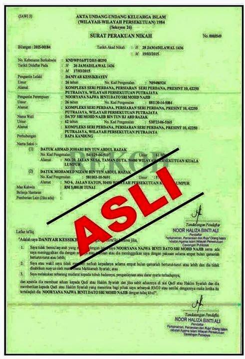 Contoh Surat Nikah Wilayah Persekutuan Contoh Surat