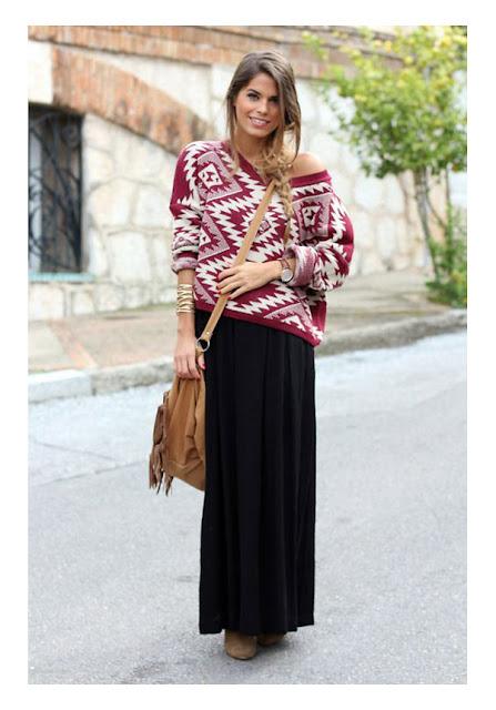 Платье макси со свитером