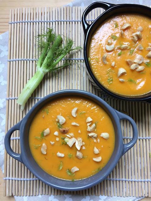 crema de zanahoria e hinojo receta