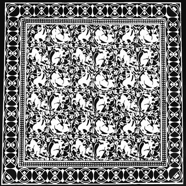 1906 German floor linoleum