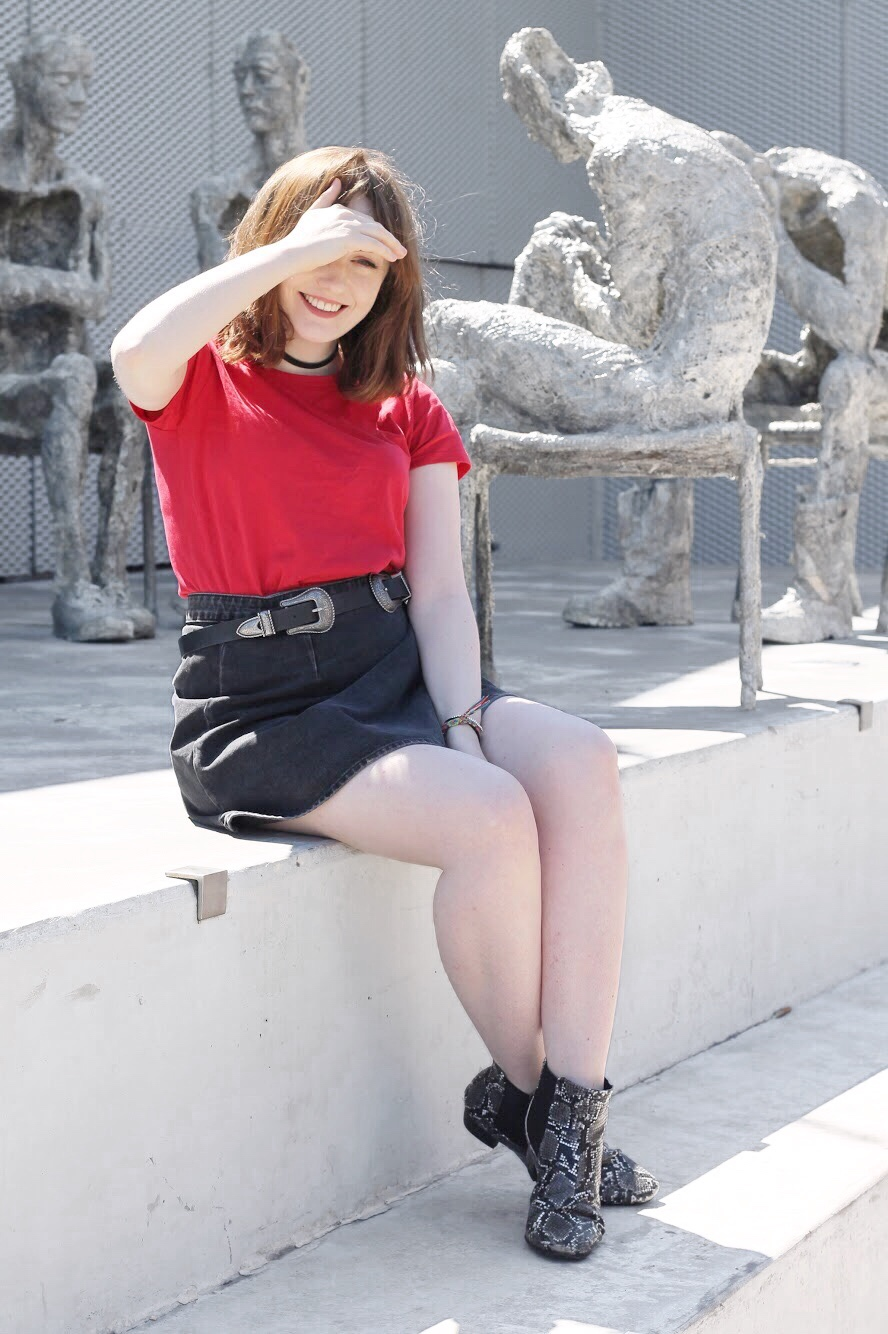 aw17 red and black outfit from liverpool fashion blogger