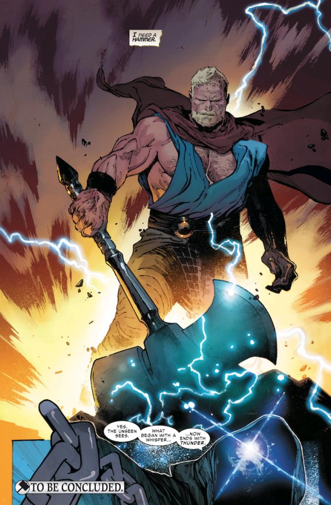 6af6a1e3f O quadro faz referência a saga Pecado Original, onde Thor deixou de ser  digno de empunhar o Mjolnir após um sussuro de Nick Fury em seu ouvido.