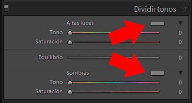 panel 'Dividir tonos'