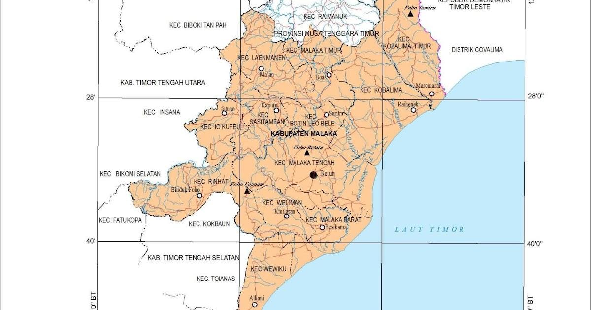 geografis kabupaten malaka kepulauan ntt