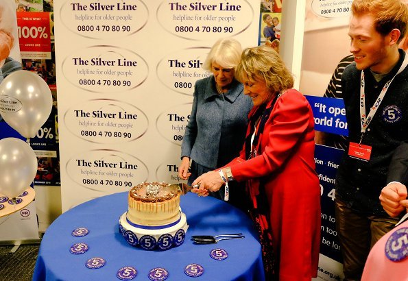 The Duchess of Cornwall attended the annual ICAP Charity Day in support of The Silver Line. donated to a selected group
