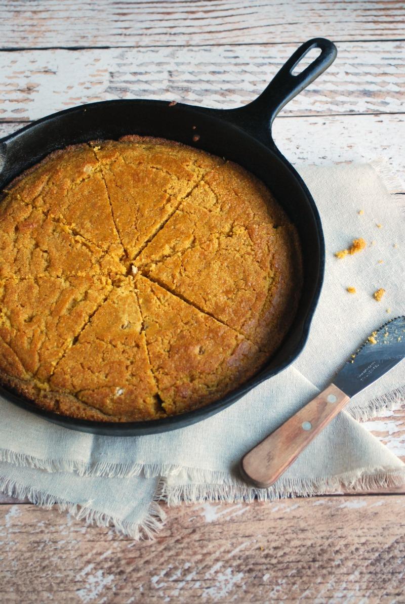 Sweet Skillet Pumpkin Beer Cornbread - an amazing quick bread