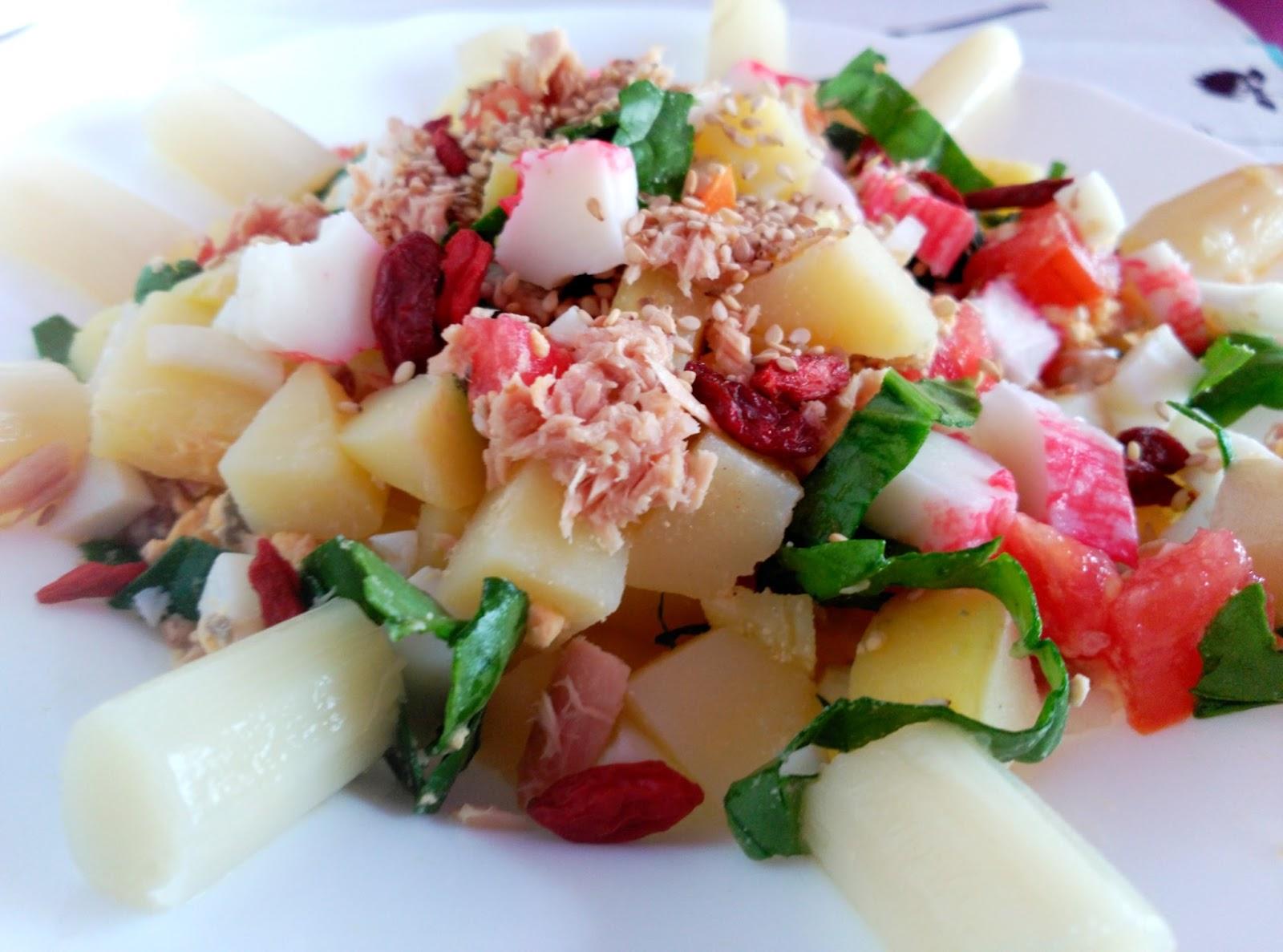 Ensalada De Patata Con Espinacas Y Bayas De Goji Recetas