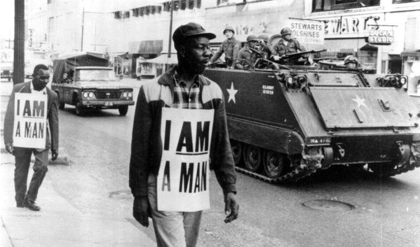 Black men combating the psychological degradation of white people calling them boy circa 1960s