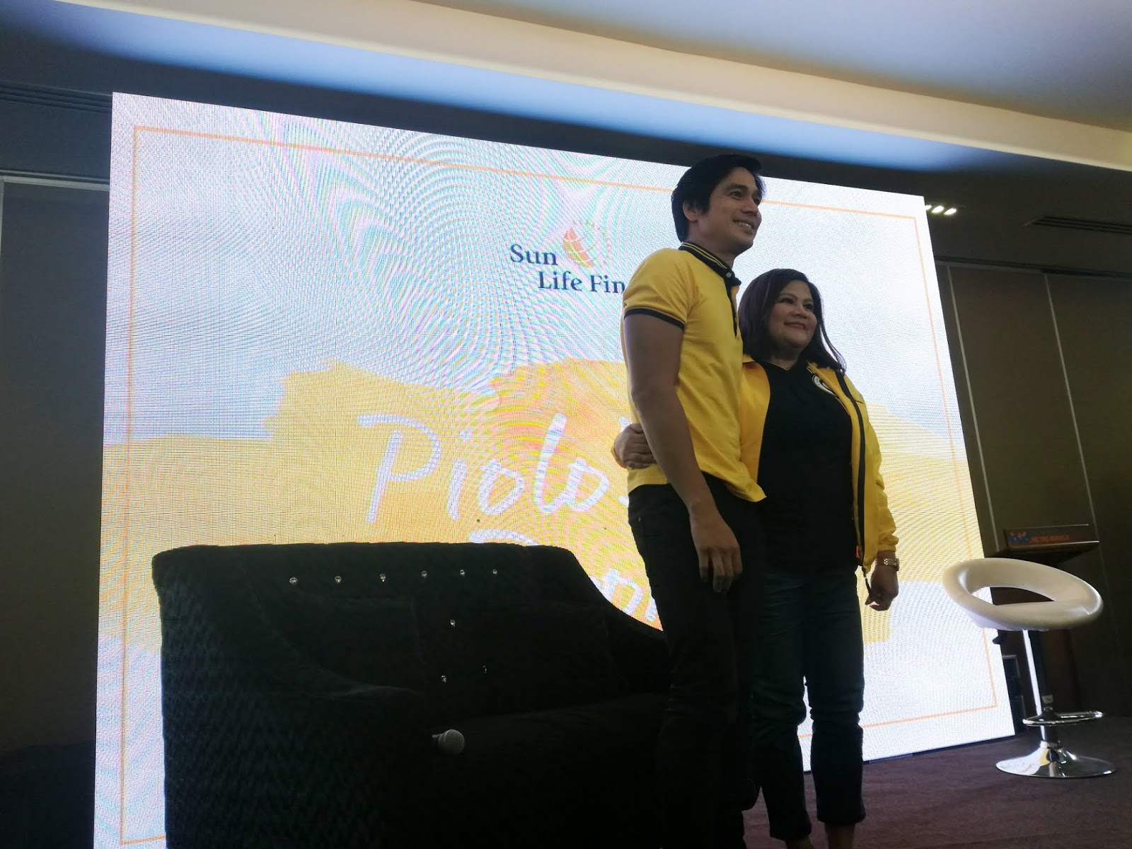Piolo Pascual and Chiqui Pascual-GOnzales for Sun Life Financial