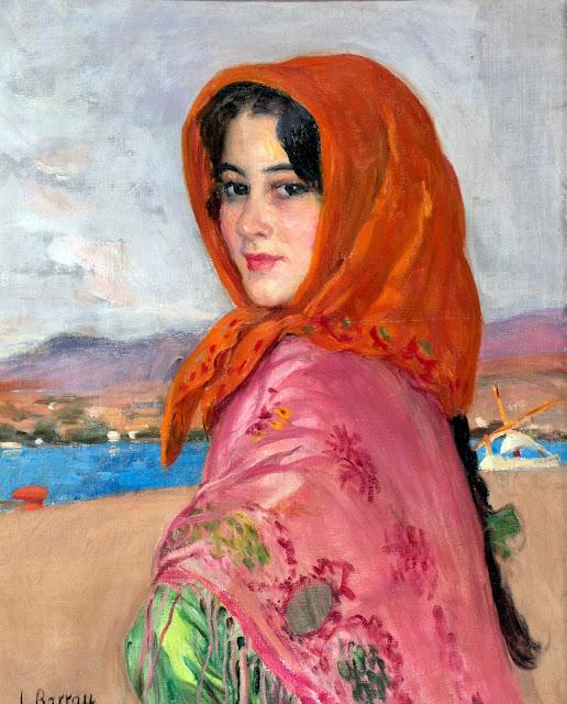 La señora joven de Ibiza, Laureano Barrau Buñol, Pintor Catalán, Ibicenca, Pintor español, Cuadros de Laureano Barrau Buñol, Barrau Buñol