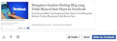 Mengatasi Gambar Posting Blog yang Tidak Muncul Saat Share ke Facebook Mengatasi Gambar Posting Blog yang Tidak Muncul Saat Share ke Facebook