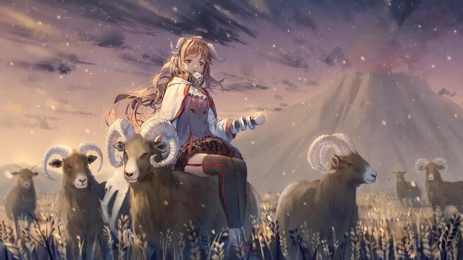 Eyjafjalla, Arknights, Anime, Girl, 4K, #6.1833