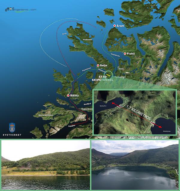 primer tunel para barcos del mundo noruega