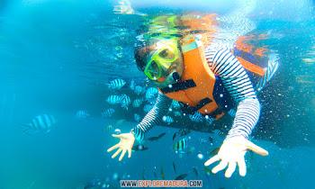 snorkeling underwater gili labak pantai sembilan