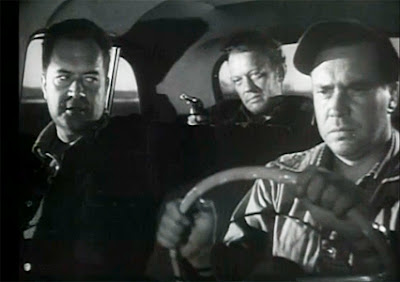 Frank Lovejoy, Edmund O'Brien and William Talman in The Hitch-Hiker (1953)