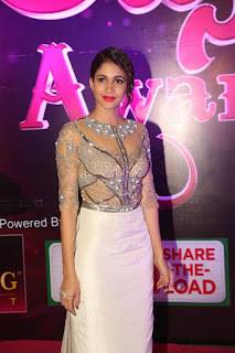 Lavanya Tripathi dazzles in a Diamond studded Transparent top Skirt at Apsara Awards 2016 Must see