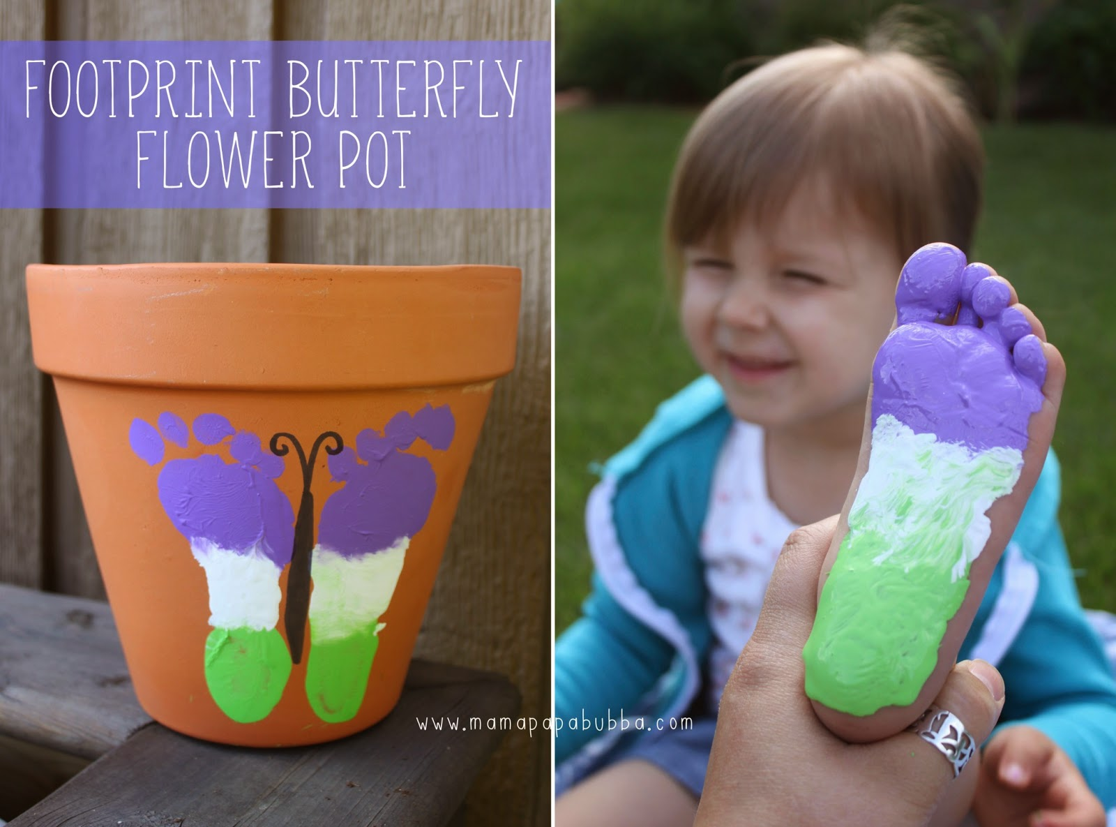 Painted kids flower pot