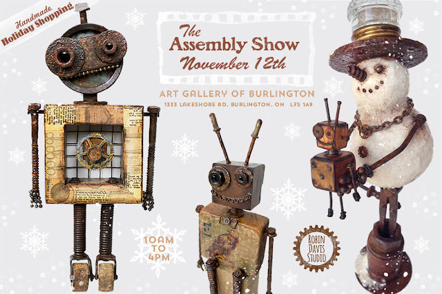 Assemblage Art Pieces by Robin Davis Studio