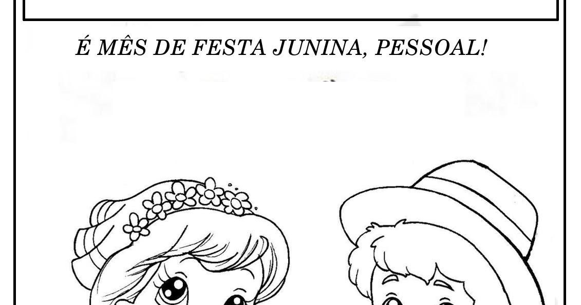Espaco Do Saber Desenhos Para Imprimir E Colorir Festa Junina