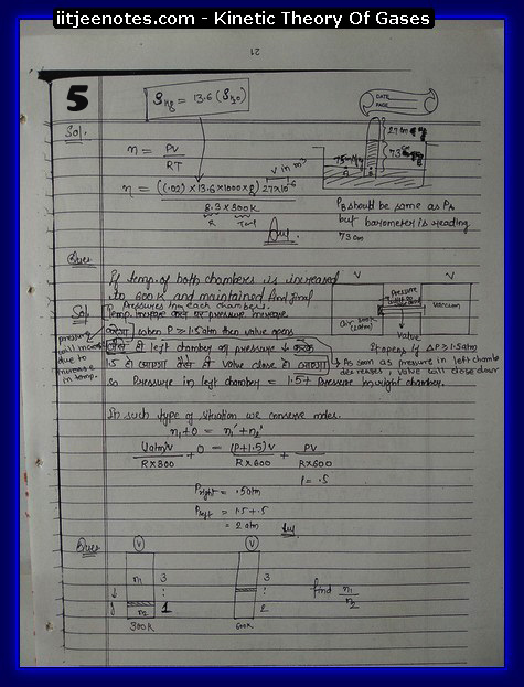Kinetic theory of gases IITJEE5