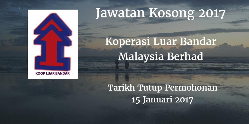 Jawatan Kosong Koperasi Luar Bandar Malaysia Berhad 15 Januari 2017