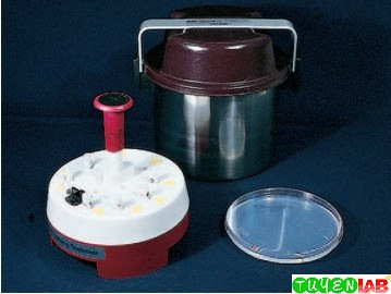 Cartridges containing antimicrobial susceptibility test disks are inserted into the dispenser