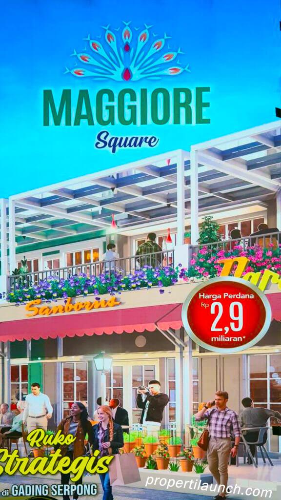 Banner Ruko Maggiore Square Paramount Land