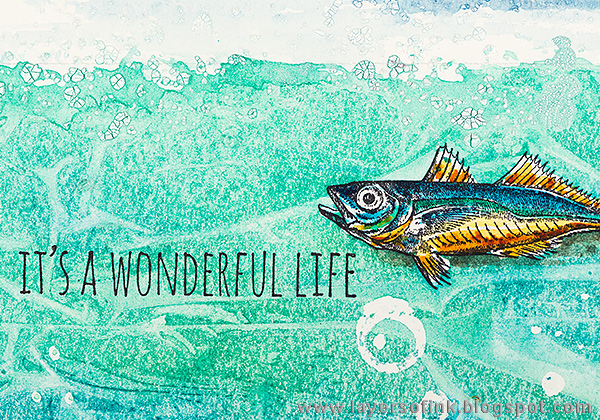 Layers of ink - Textured Watercolor Canvas Tutorial by Anna-Karin a wonderful life