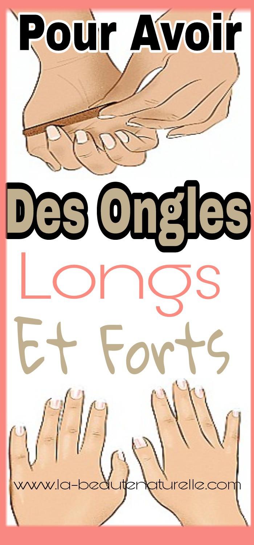 Pour avoir des ongles longs et forts