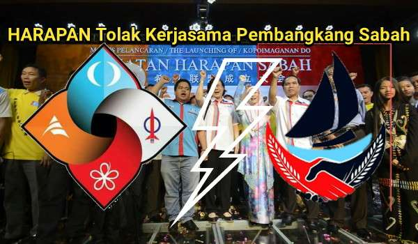 HARAPAN Tolak Kerjasama Pembangkang Sabah