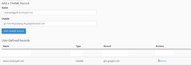 input your cname blog