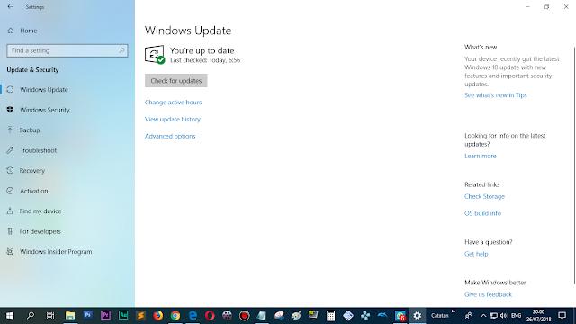Windows 10. (sangat di rekomendasikan untuk update)
