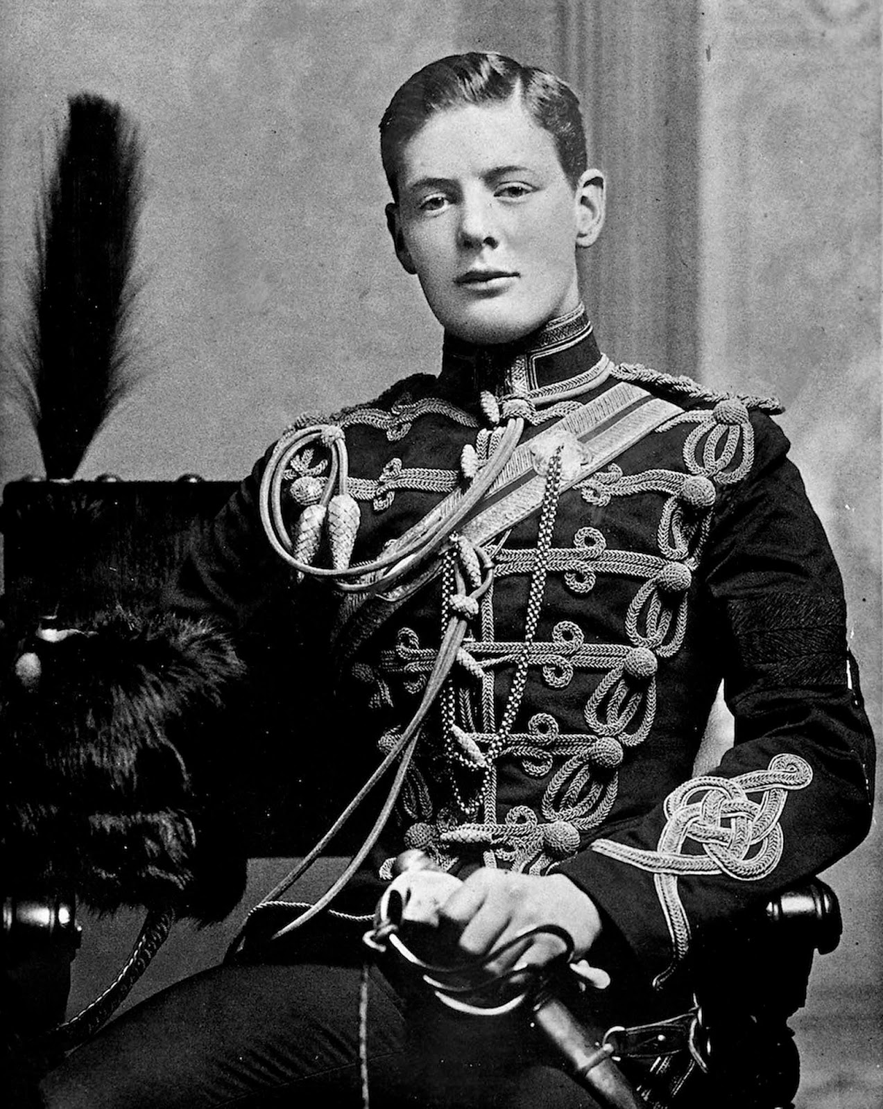 A rare shot of a 21 years old Winston Churchill, 1895.