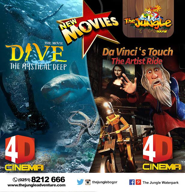 Film 4D Dive The Mystical Deep dan Da Vinci's Touch The Artist Ride.