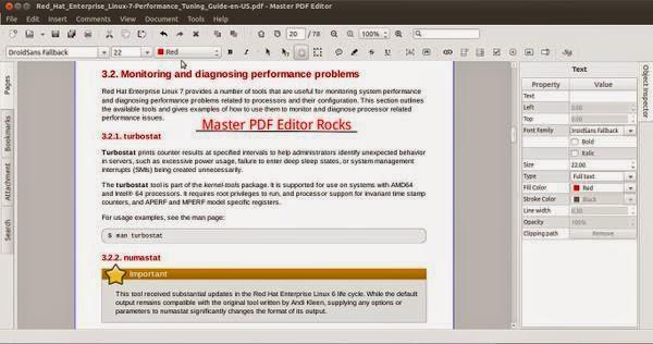Master PDF Editor, Aplikasi Mengedit PDF dan XPS di Linux