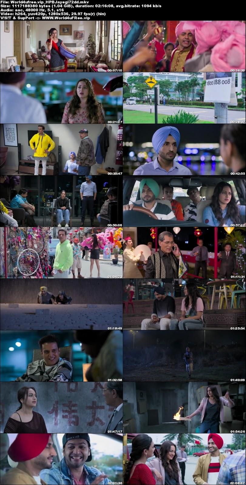 Happy Phirr Bhag Jayegi 2018 Hindi 720p Dvdrip 1gb X264