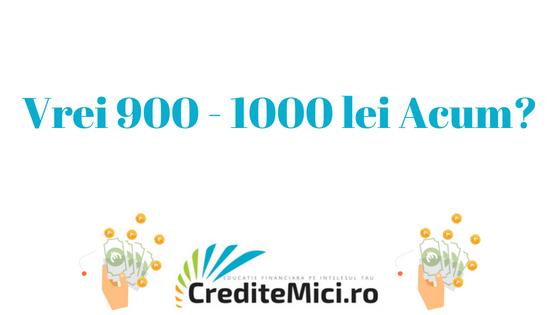 Credit 900 lei sau 1000 lei imprumut rapid online