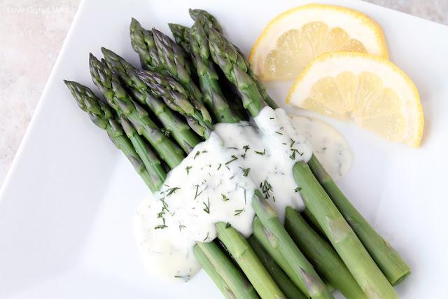 Asparagus With Lemon Dill Sauce