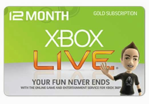 Unused Xbox Live Codes