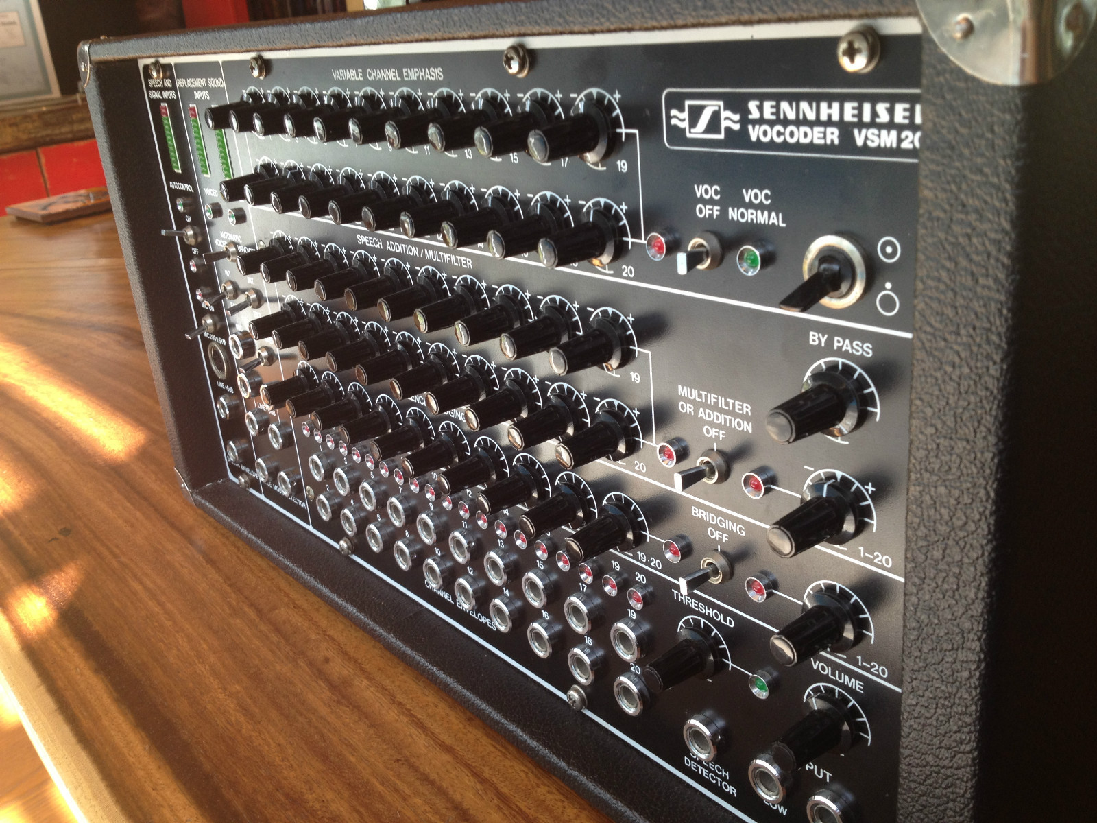 MATRIXSYNTH: Sennheiser Vocoder VSM 201 Serviced by Studio Electronics