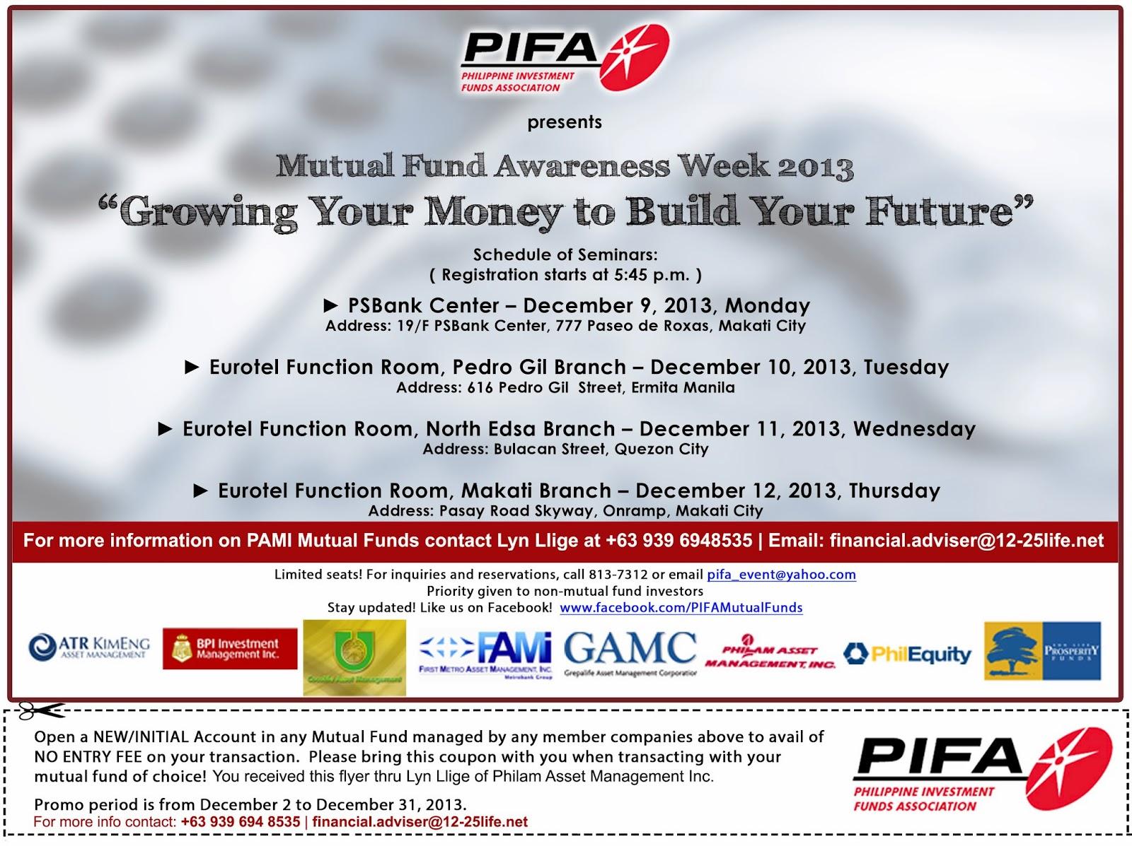 Mutual Fund Awareness Week 2013