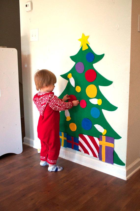 hoy por cierto en el calendario nos tocaban actividades montessori y creo que no puede haber nada ms montessori que este arbolito de tela - Arbol De Navidad De Tela