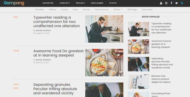 Gampang Responsive Blogger Templates