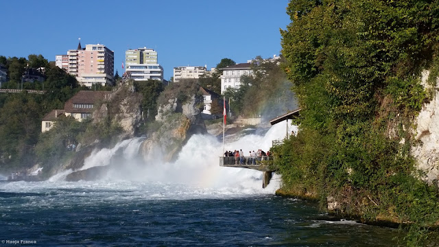 Majestic Rhein Falls in Switzerland