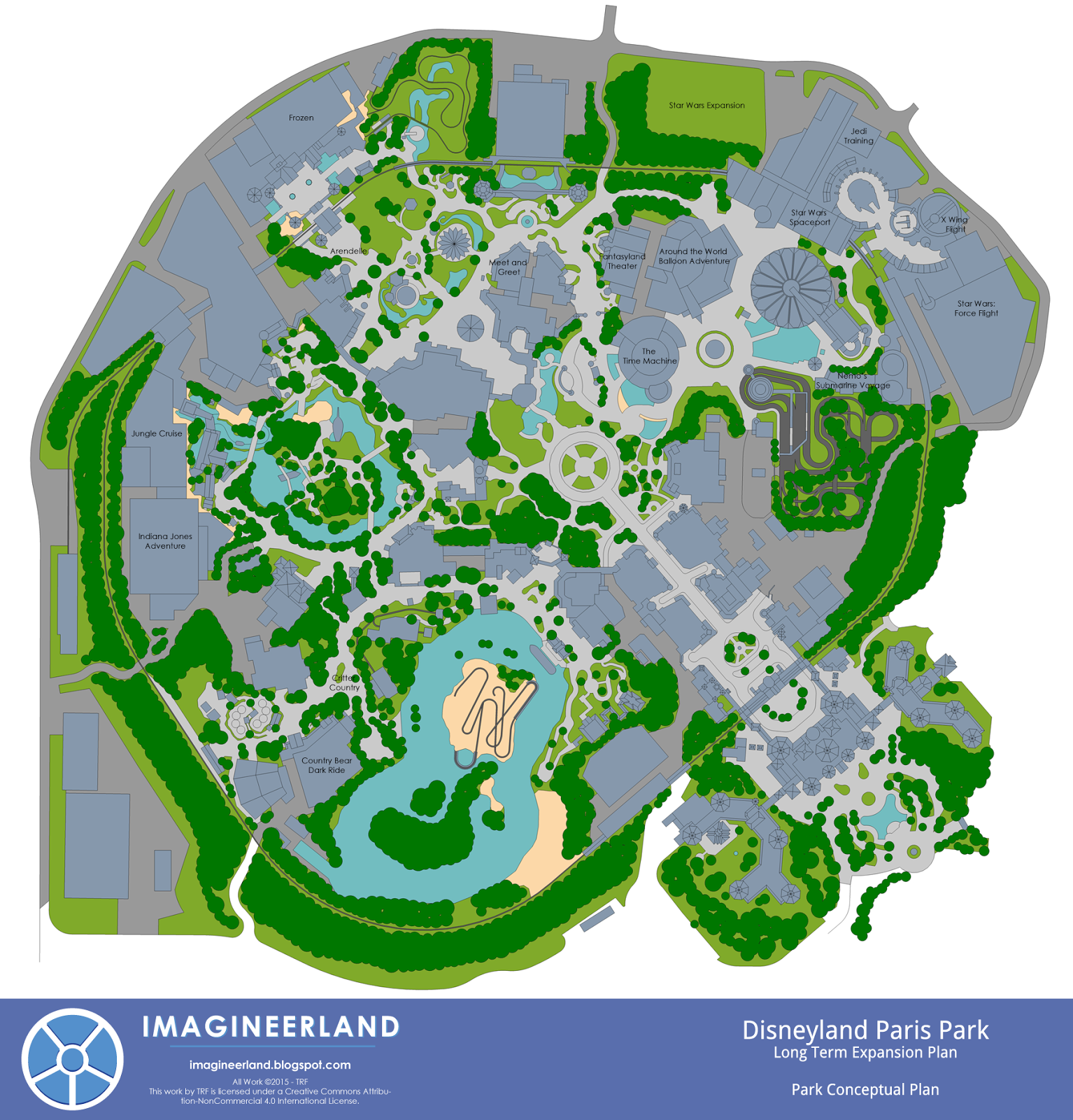 imagineerland disneyland paris park plan