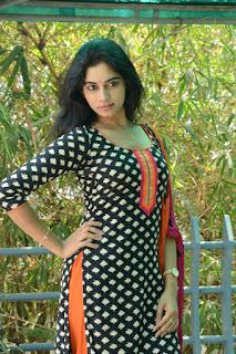 Actress Shruti Mol Stills in Salwar Kameez at O Sthree Repu Raa Movie Success Meet  0005