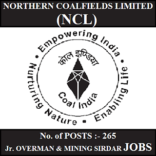 Northern Coalfields Limited, NC, Coal Field, Mining Sirdar, Overman, MP, Madhya Pradesh, 10th, freejobalert, Sarkari Naukri, Latest Jobs, Hot Jobs, ncl logo