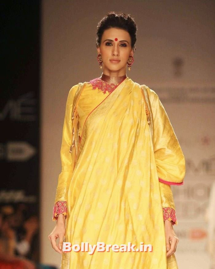 Alesia Raut, Indian Female Models in Saree - Lakme Fahsion Week Ramp Walk