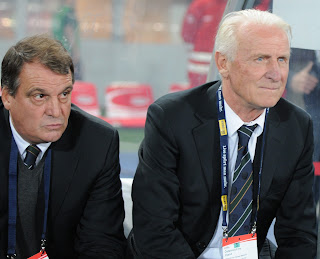Marco Tardelli and Giovanni Trappatoni during their time in charge of the Republic of Ireland national team